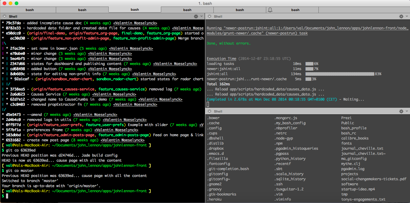 Val on Programming: Having a good terminal console on OS X